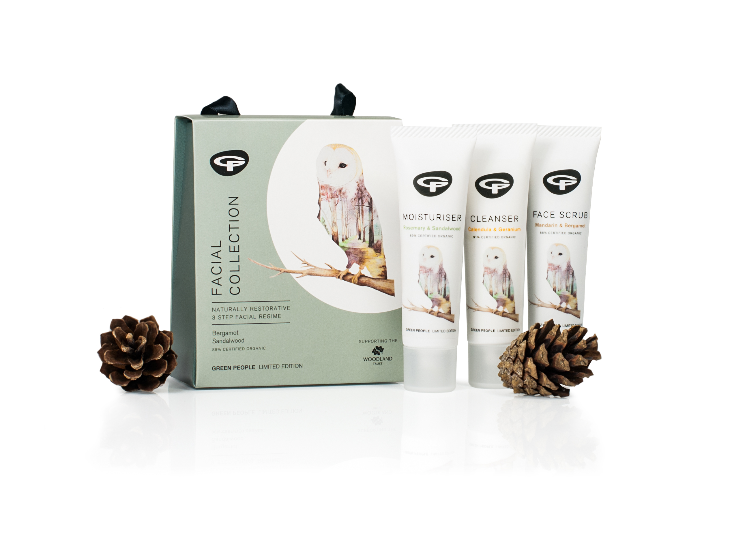 Green People woodland trust limited edition facial care