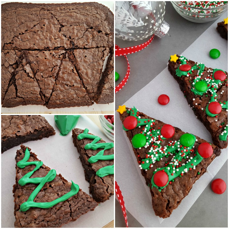 Christmas tree Brownies Collage