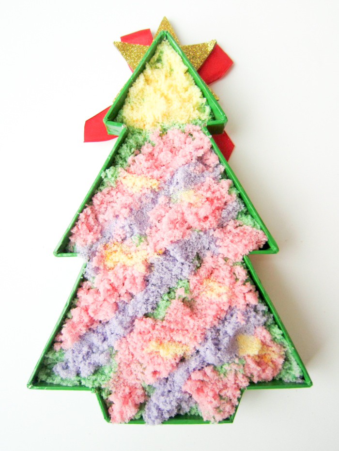 Toddler decorated Christmas Tree_