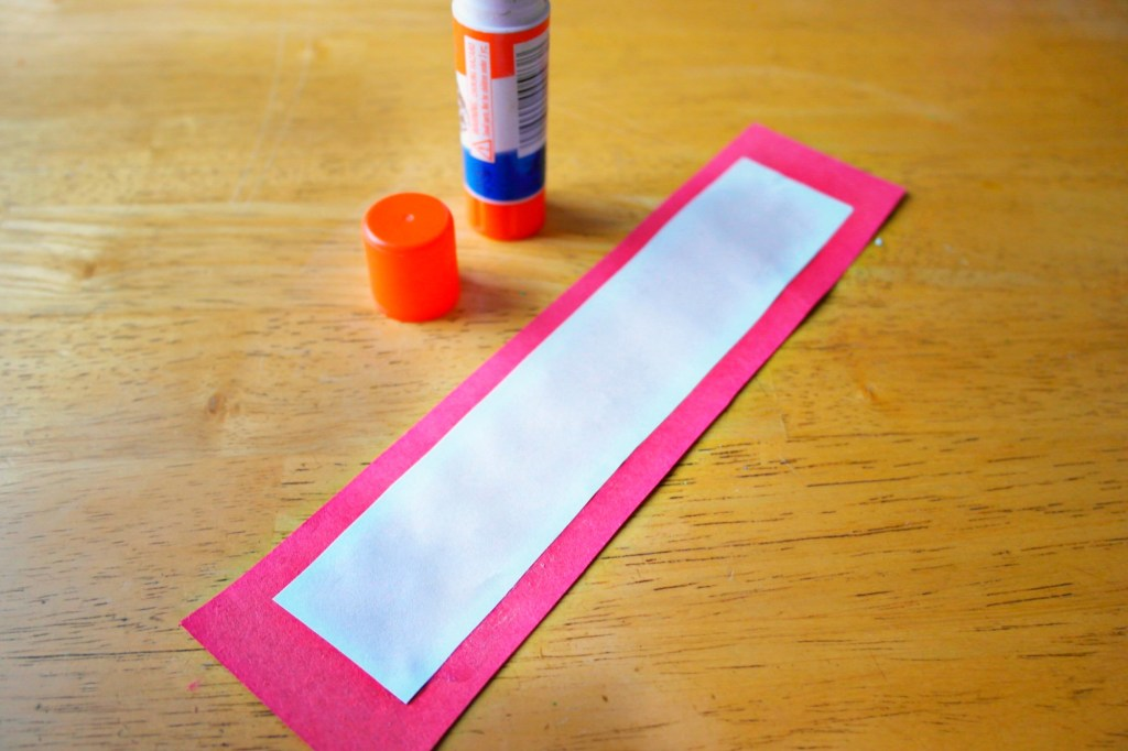 making Valentines Thumbprint Heart Bookmark