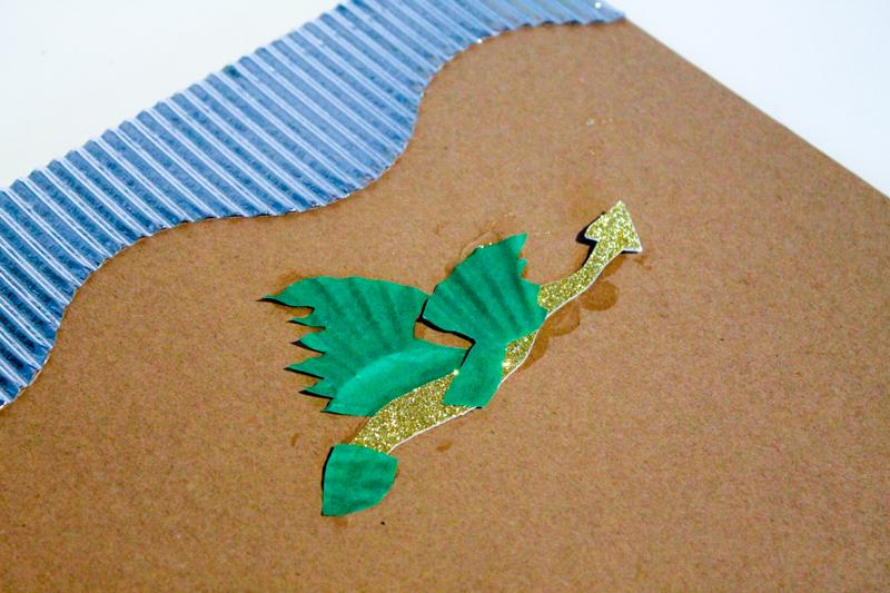 making a cardboard dragon shield