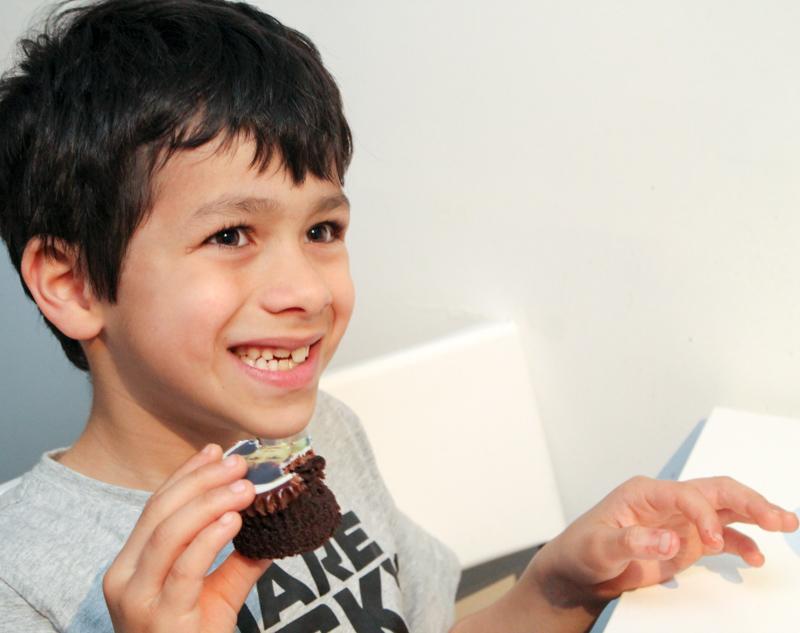 chocolate photo cupcake