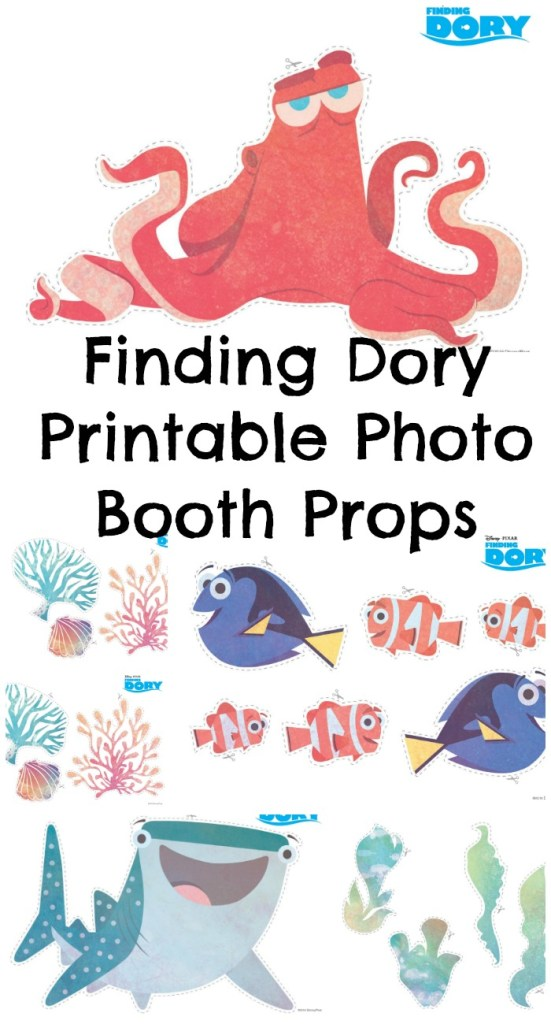 Free Printable Finding Dory Photo Booth Props