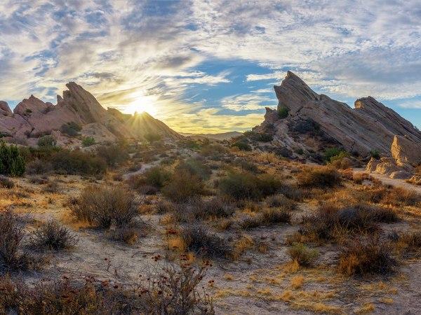 Vasquez Rocks Sunrise Panorama
