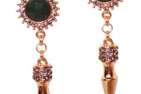 house of gemmes shotgun earrings
