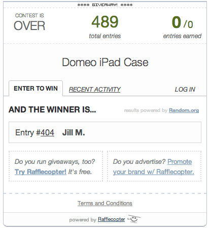 Winner of the Domeo iPad Case