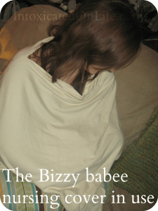 bizzy baby nursing cover in use