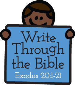 Write Through the Bible: Exodus 20:1-2 - A full year of handwriting practice focused on God's word