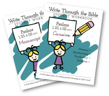 Psalms KJV Covers Handwriting Workbooks