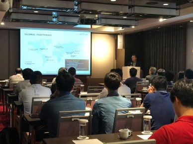 Chris Turner speaking at customer technical seminiar in Taiwan