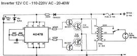 40W Inverter Circuit Diagram