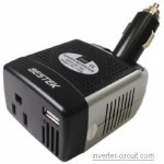 Bestek cheap inverter 75 Watt 12VDC to 110vAC
