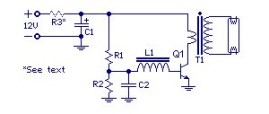 Inverter circuit for 40W fluorescent lamp