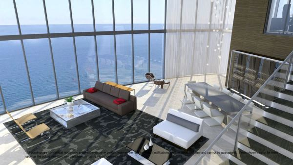 Porsche Design Tower Living room
