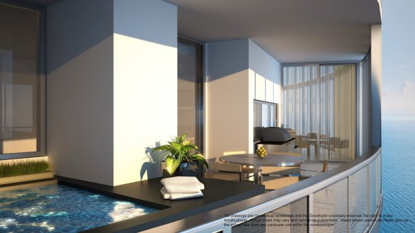 Porsche Design Tower Plunge pool and summer kitchen