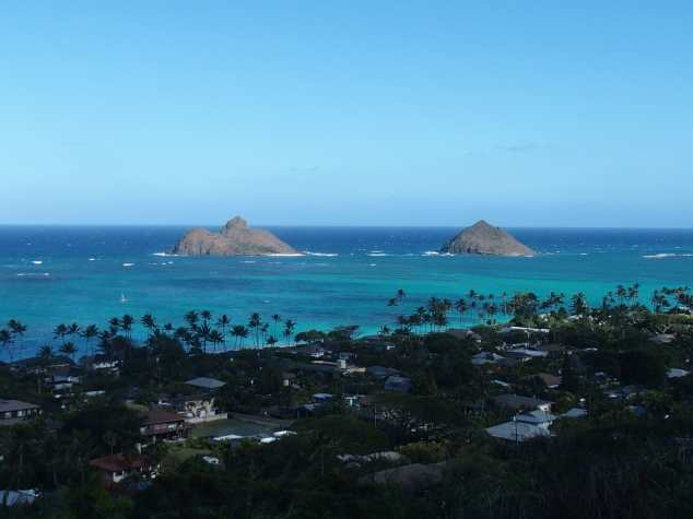 The view from the Pillbox Lanikai trail