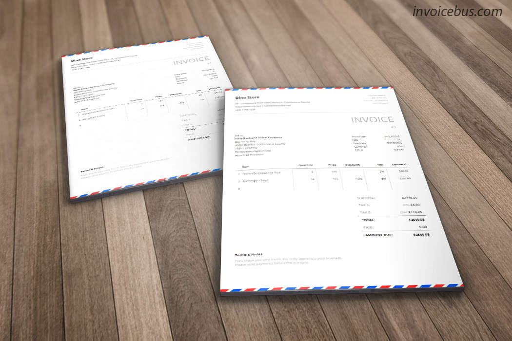 Envelope Invoice Template   Postal     Inspired by the awesome airmail envelopes  Postal is generic invoice  template that evokes the sense