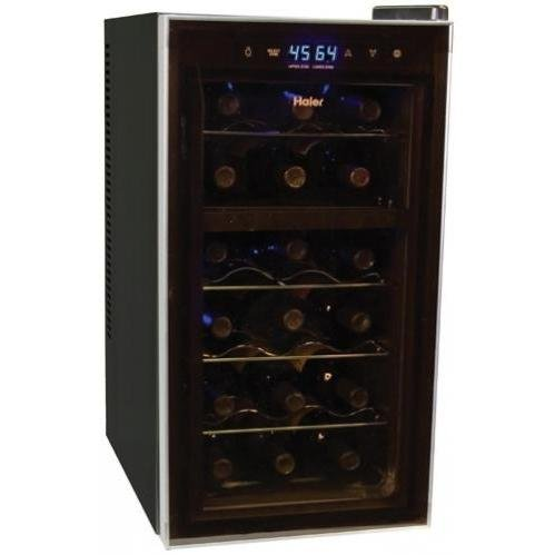 Haier HVTB18DABB18-Bottle Dual-zone Wine Cooler with Touch Screen Controls