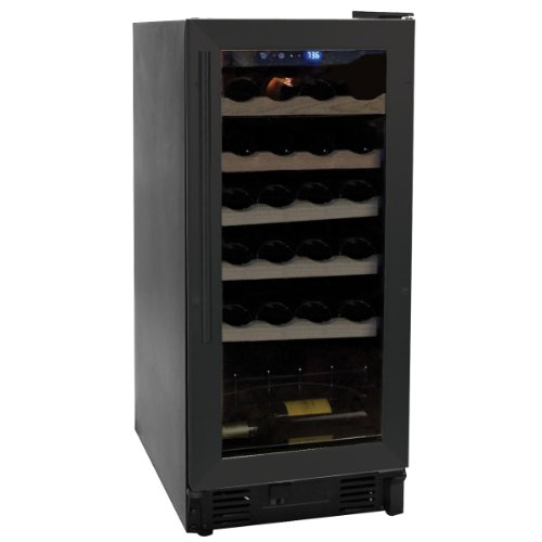 Haier HVCE15DBH Built-In or Freestanding 26-Bottle Wine Cellar with Thermal Glass Door