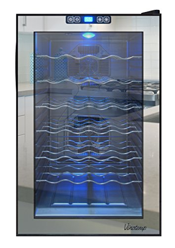 Vinotemp VNTVT-28TSBM 28-Bottle Mirrored Thermoelectric Wine Cooler