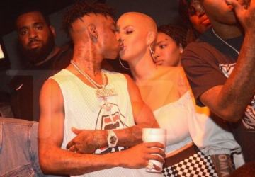 21 savage and amber rose throw over 20k at atlanta night club