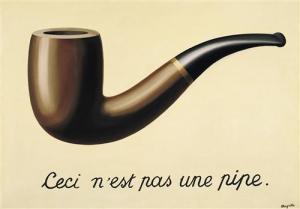"The Treachery of Images, René Magritte, ""This is not a pipe."""