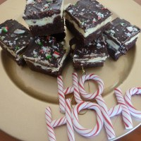 Christmas peppermint brownie