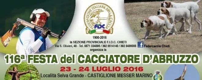 116ª Festa del cacciatore d'Abruzzo – 23/24 Luglio