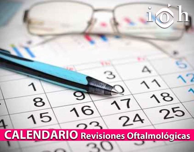 CALENDARIO Revisiones Oftalmológicas