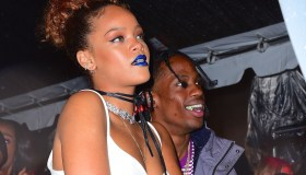 Rihanna Cozies Up to Travis Scott at Roc Nation Block Party in NYC