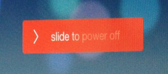 power off ios 7 button