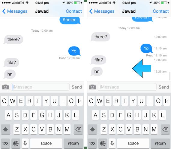 timestamps messages app 1