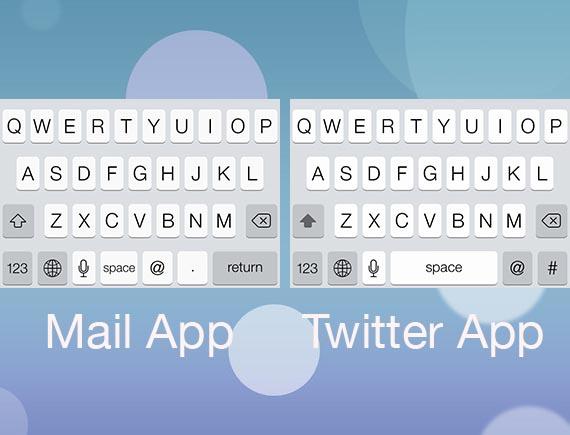 twitter mail keyboard