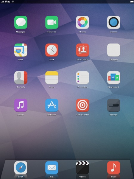 iOS 8 Infinity tema