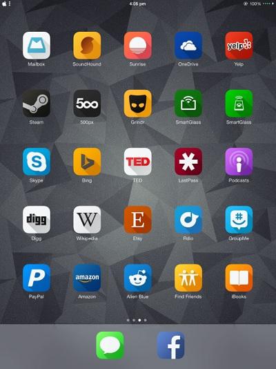 Solstice theme for iPad 1