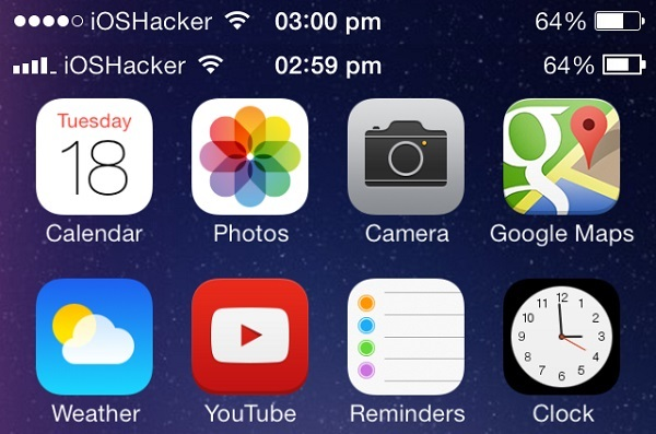 iOS 6 like status bar