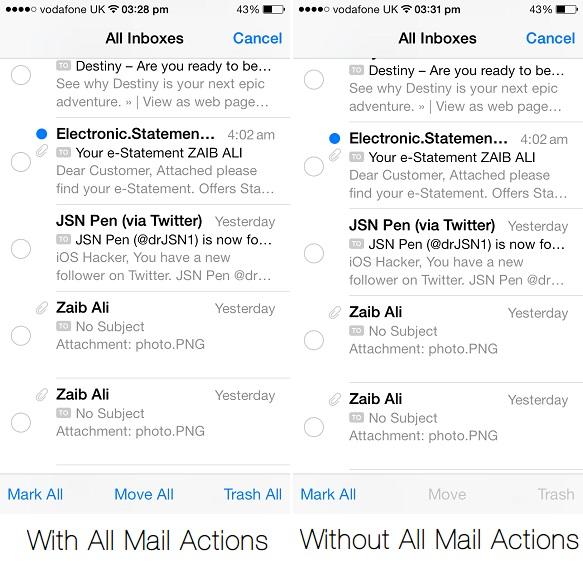 All Mail Actions tweak