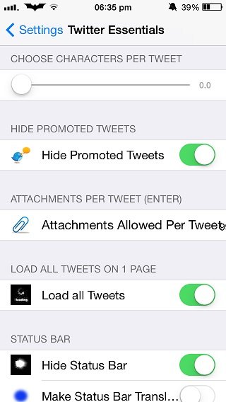 Twitter Essentials Tweak