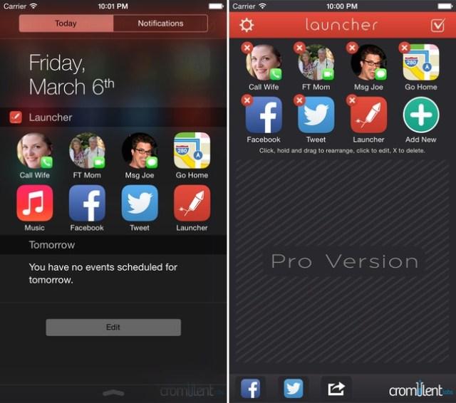 Launcher with Notification Center Widget app