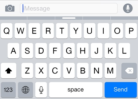 iMessage keyboard iOS