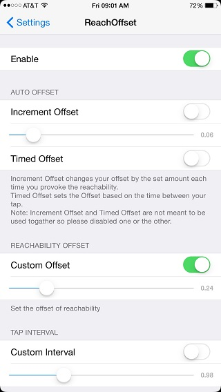 ReachOffset tweak
