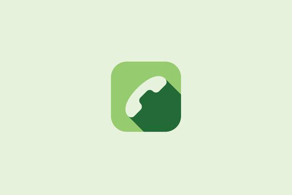 Phone app icon flat1
