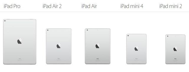 iPad Pro side by side