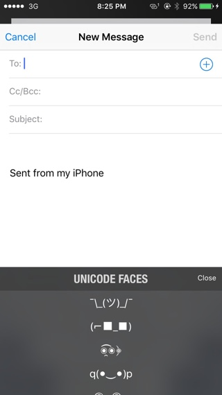 Unicode Faces tweak 2