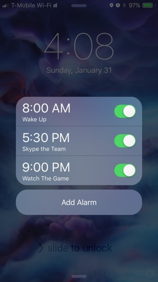 TimeAlarm tweak