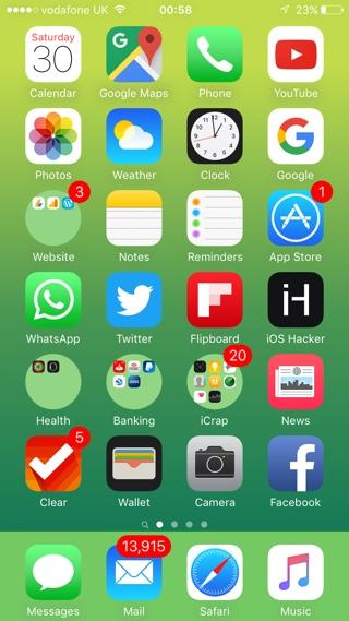 Circular icons iOS