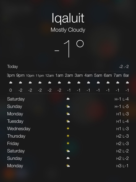 iPad weather PersonalAssistant