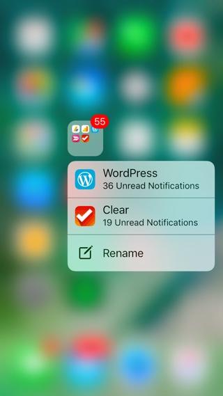App Notifications Folders iOS 10