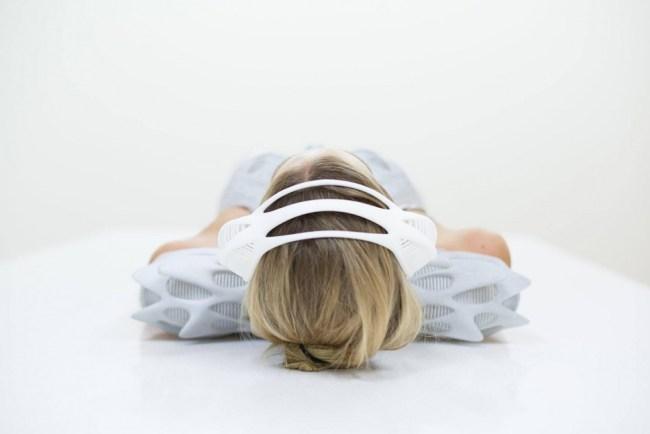Lauren Bowker's EEG- equipped headband
