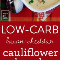 Bacon-Cheddar Cauliflower Chowder (A Low-Carb Alternative to Baked Potato Soup!)